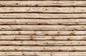 stock photo of log fence  - Seamlessly tiling  - JPG