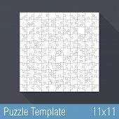 foto of jigsaw  - Square jigsaw puzzle template 11x11 pieces - JPG