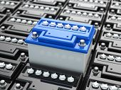 stock photo of three-dimensional  - Car batteries background - JPG