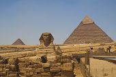 picture of ramses  - The Sphinx and the pyramids of Khafre  - JPG