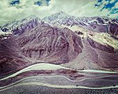 stock photo of himachal pradesh  - Vintage retro effect filtered hipster style travel image of Spiti valley - JPG