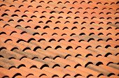 picture of gusset  - Old red tiles roof background - JPG