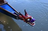 foto of dragon head  - Chinese dragon head as a prow of a boat - JPG