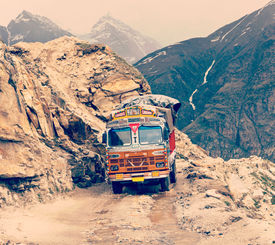 stock photo of himachal  - Vintage retro effect filtered hipster style travel image of Manali - JPG