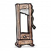 image of guillotine  - cartoon guillotine  - JPG
