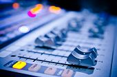 picture of mixer  - a sound music mixer with control panel