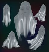 foto of wraith  - Set of ghosts isolated on background Vector illustration - JPG