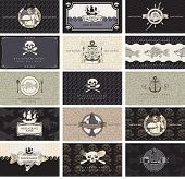 pic of pirate flag  - Set of business cards for the pirate bar - JPG
