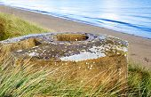 image of ww2  - Tobruk bunker WW2 Utah Beach is one of the five Landing beaches in the Normandy landings on 6 June 1944 during World War II - JPG