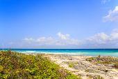 foto of playa del carmen  - Carribean sea scenery in Playacar  - JPG