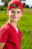 pic of ten years old  - Boy Child Portrait Smiling Cute ten years old outdoor - JPG