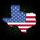 pic of texas state flag  - Texas state map flag on hex code illustration - JPG