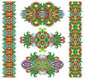 foto of adornment  - ornamental floral decorative ethnic adornment - JPG