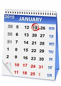 stock photo of epiphany  - icon in the form of a calendar for Epiphany - JPG