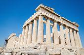 pic of parthenon  - Famous Parthenon temple in the Acropolis Athens Greece - JPG