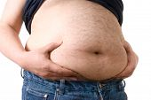 stock photo of fat-guts  - fat belly - JPG
