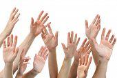 image of waving hands  - Close - JPG