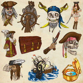 picture of kraken  - Pirates Buccaneers and Sailors  - JPG