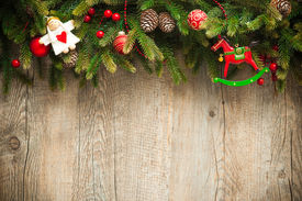 picture of christmas angel  - vintage christmas decoration over old wooden background - JPG
