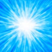 stock photo of flashing  - Bright light blue stars - JPG