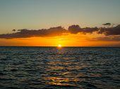 image of atlantic ocean  - Sunset above the Atlantic ocean Tenerife Canarian Islands - JPG