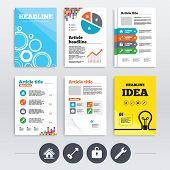 stock photo of main idea  - Brochure design and A4 flyers - JPG