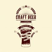 stock photo of drawing beer  - Craft beer label - JPG