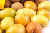 picture of fruit  - Oriental fruit plate - JPG