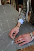 pic of tailoring  - Real tailor in a small town near Assisi in Italy - JPG