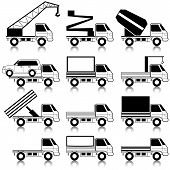 image of car symbol  - Set of vector icons  - JPG