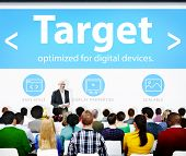 picture of market segmentation  - Target Market Business Meeting Seminar Conference Learning Concept - JPG