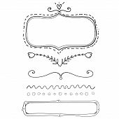 picture of swirly  - Set of hand drawn frame and dividers - JPG