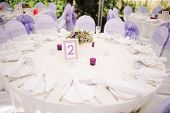 pic of banquet  - Banquet wedding table setting on evening reception - JPG