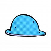 foto of bowler hat  - retro comic book style cartoon red bowler hat - JPG