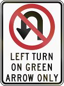 stock photo of turn-up  - United States traffic sign - JPG