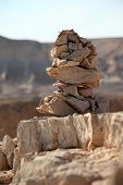 image of stone sculpture  - A balancing stone sculpture - JPG