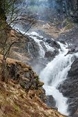 picture of early spring  - waterfall in Norway - JPG