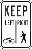 stock photo of pedestrians  - United States traffic sign - JPG