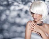 picture of silver-hair  - Fashion Blond Girl - JPG
