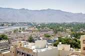 pic of oman  - View from the fort to the town Nizwa Oman - JPG
