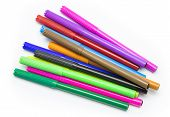 pic of marker pen  - Colorful markers pens Multicolored Felt Pens draw line - JPG