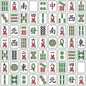 foto of south east asia  - Seamless pattern with full set of chinese mahjong  - JPG