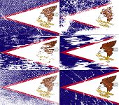 picture of samoa  - Flag of American Samoa with old texture - JPG