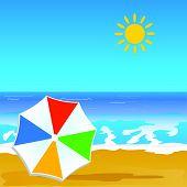 foto of beach shell art  - paradise beach and coast color vector art - JPG