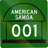 picture of samoa  - United States American Samoa Territorial Highway shield - JPG