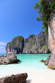 pic of koh phi-phi  - Beach in Thailand Southeast Asia  - JPG