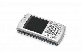 picture of qwerty  - smart phone with qwerty keyboard on an isolated white background - JPG