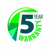 Vector Logo In The Shape Of A Circle 5-year Warranty poster