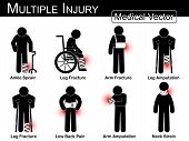picture of amputation  - Multiple injury set  - JPG