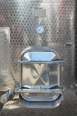 picture of silos  - Door at Stainless Steel Silo Storage Tank - JPG